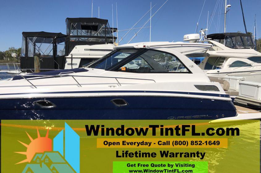 Boat Window Tint - Naples Florida 2015 Regal SC Yatch