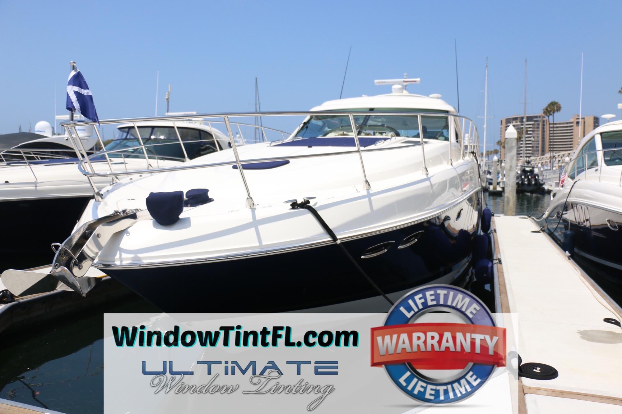 Marine Solar Window Film - Boat Window Tinting in Sarasota Florida - The Yacht Window Tinting Specialists! Ultimate Window Tinting