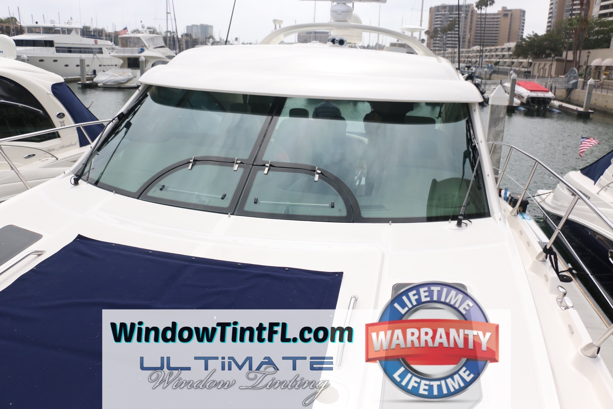 Boat Window Tint Sarasota Florida with Marine Solar Film