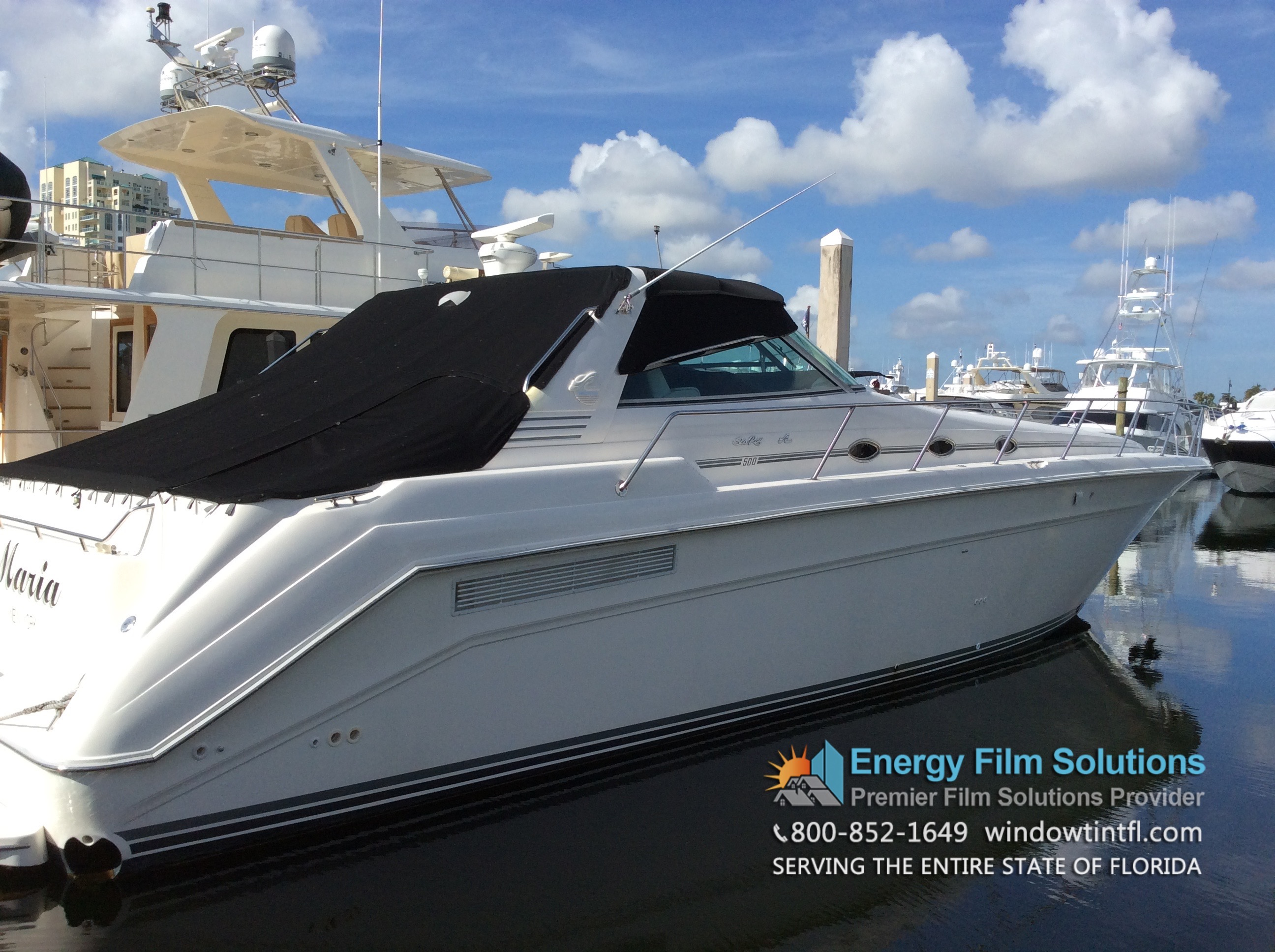 Marine Window Tinting For Yacht Boat In Fort Lauderdale