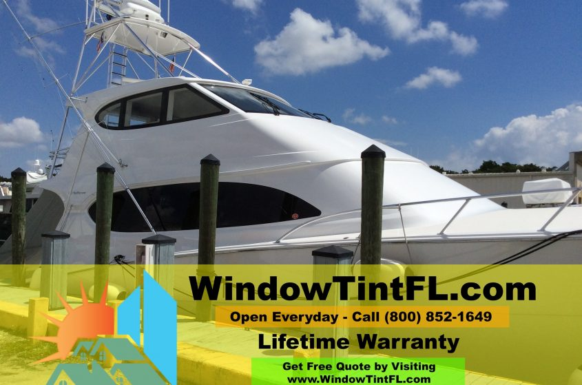 Boat Window Tinting - Tampa, Florida