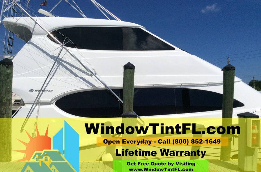 Marine Window Tinting in Ft Lauderdale, Florida