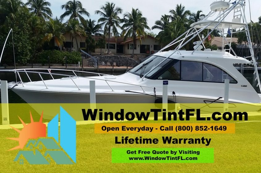 Boat Window Tint Pictures - Jacksonville, Florida