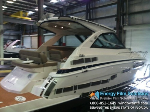 Marine Window Tinting Installation